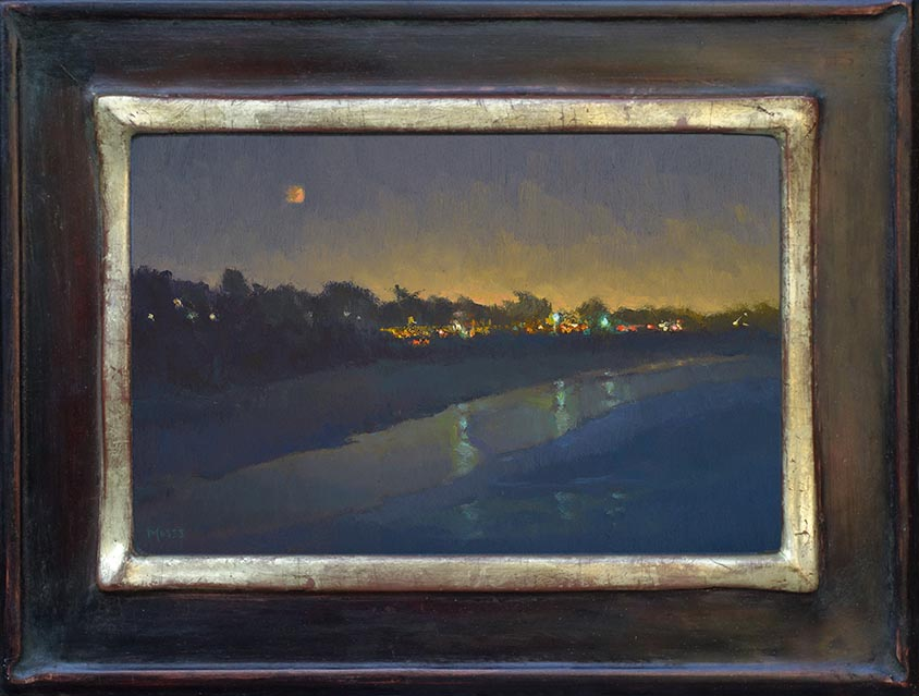Jennifer Moses Red Moon Lunar Eclipse 7.25 x 11.25 Framed 72.jpg