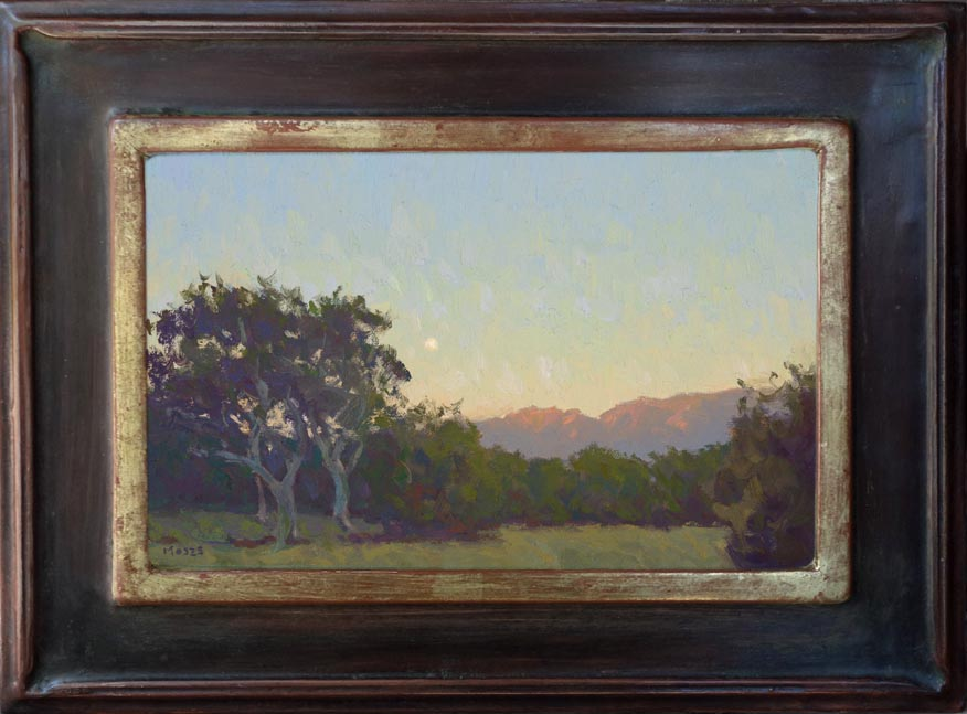 Jennifer Moses Sunrise Moonset 7.25x11.25 Framed 72.jpg