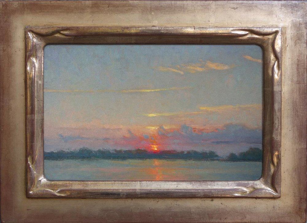 778-17-Sunset, Mulberry Island 7x11 72 Framed.jpg