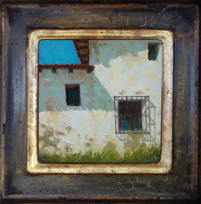 Carmel Mission Facade / 8 x 8 inches