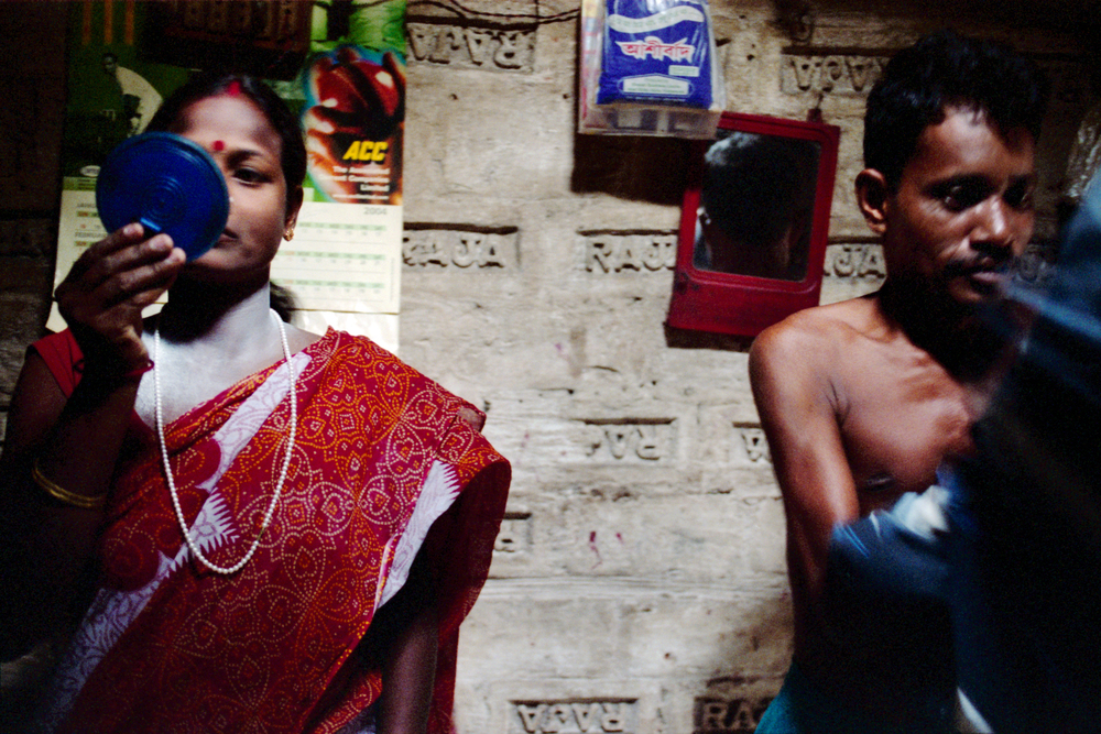 Sibani, a commercial sex worker in Calcutta and her Babu, who acts as both husband and pimp. Sibani became a prostitute because a man she fell in love with sold her for money. She has an eight-year-old daughter. Sibani says that she knows all about AIDS and tries to use condoms but sometimes her clients refuse.
