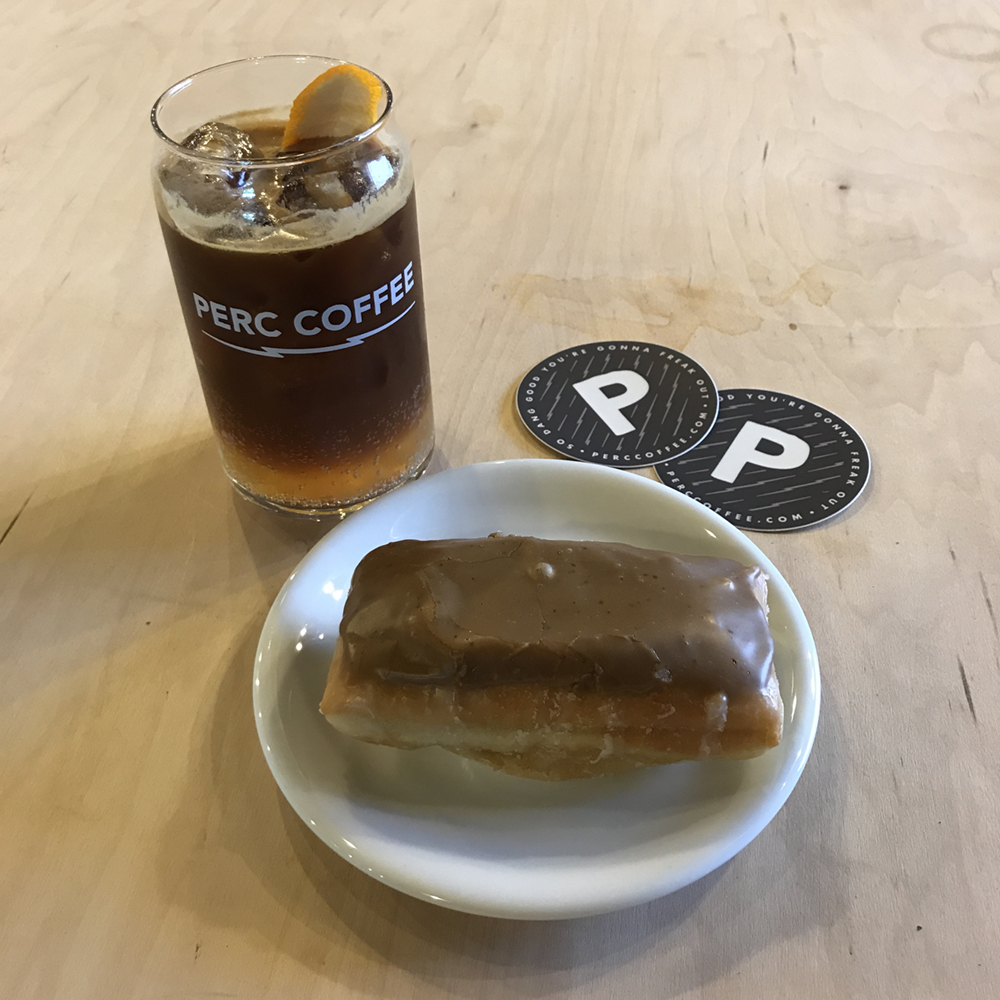 Not only did PERC have all the  great branding  we've been working on together for the past little bit, but they also had donuts.