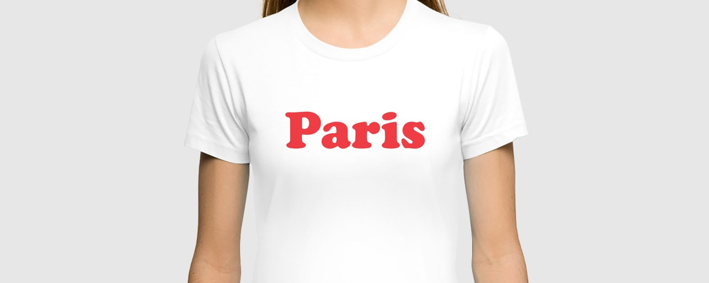 Paris shirt featuring Cooper Black available for purchase  here .