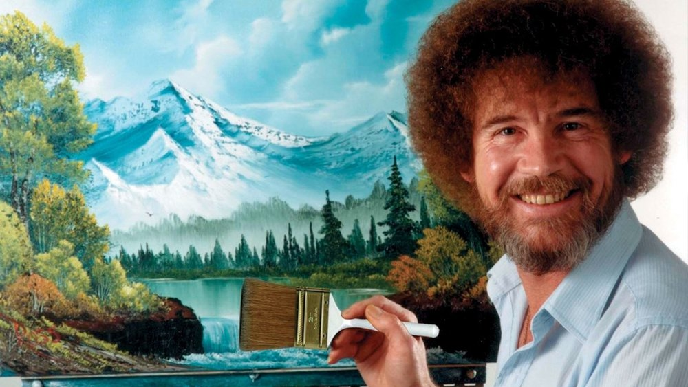 Happy little trees!,  picture credit: https://www.biography.com/news/bob-ross-biography-facts