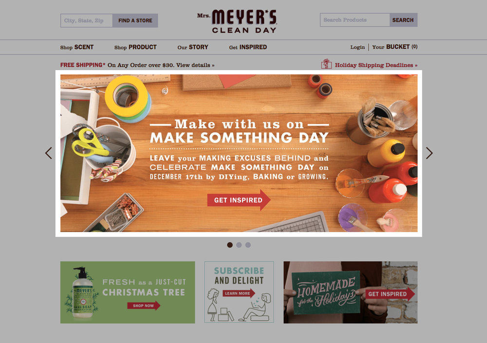 Mrs. Meyer's Clean Day, Advertising - Front Page Banner