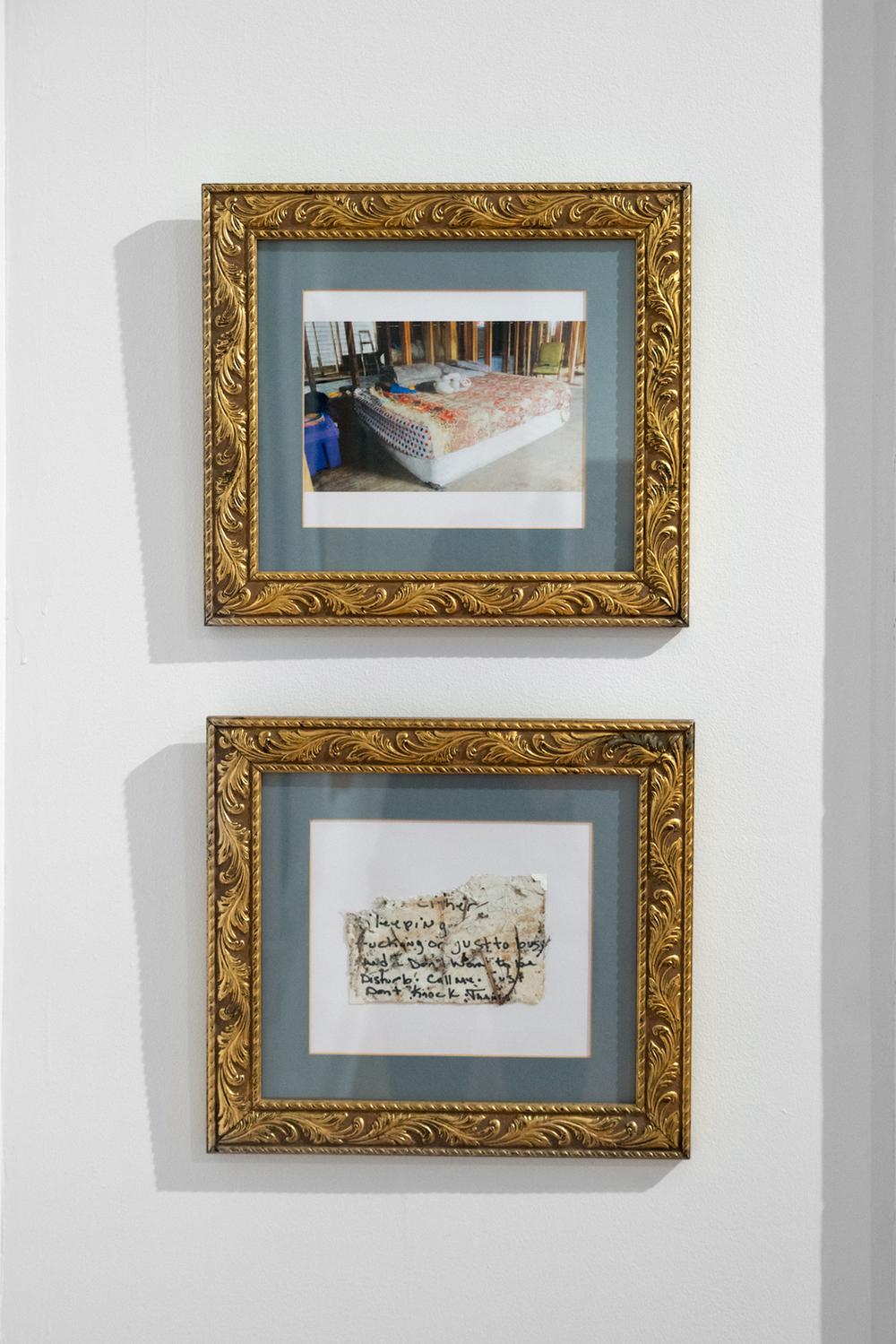 Heidi Hickman, House, 2016; Home, 2016. Framed digital prints.