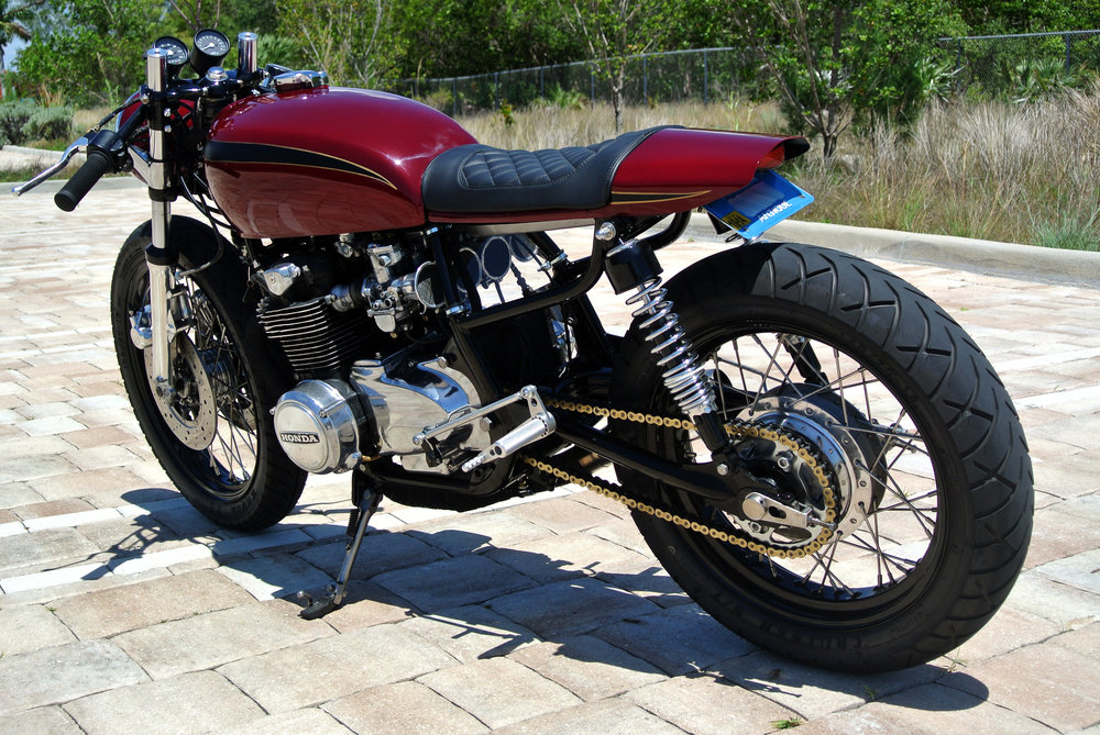 Honda CB550 Cafe Racer - The Corner Garage Motorcycle Company - Miami, FL