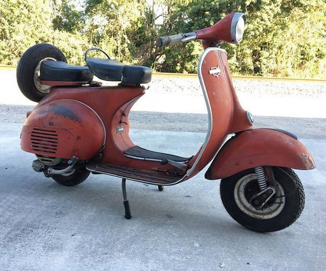 For Sale: 1965 Sears Allstate . Running and driving. New tires front and back. One owner bike. Title in hand. 2k DM for more info #sears #allstate #vespa #lambretta