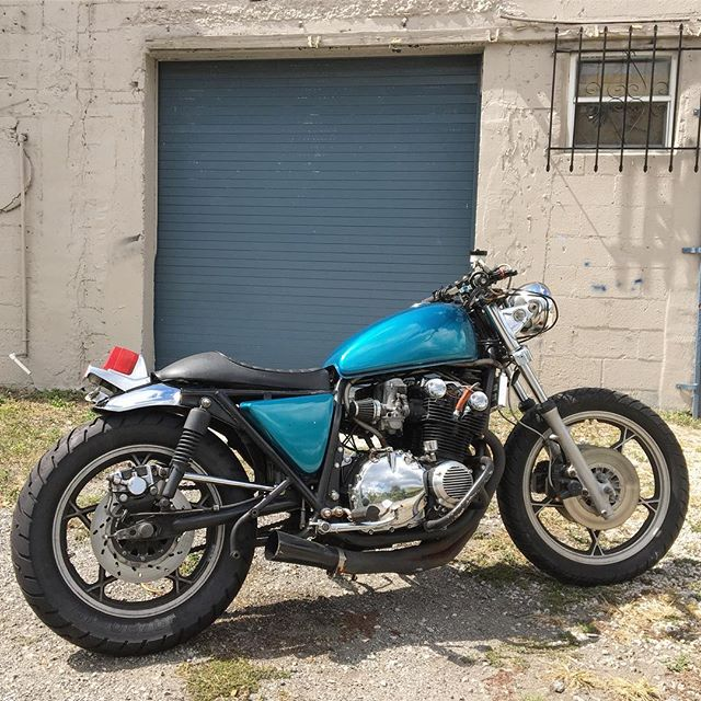 For sale: 1979 Suzuki GS1000. Runs and drives. Still have a few things to clean up on it before she's picked up, but let me know if you're interested. Paint isn't in the best condition, but it has new chain, brand new rear tire and good front tire, stainless brake lines, aftermarket oil cooler and aftermarket seat. $2,000