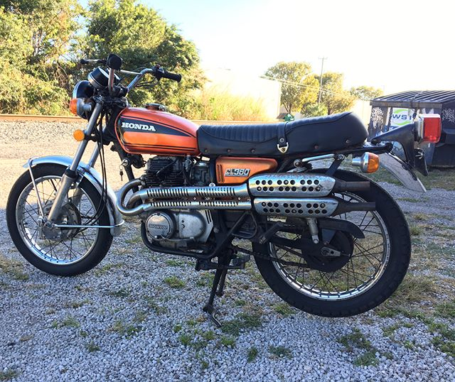 For Sale: 1974 Honda CL360 ... Starts right up and runs smooth. Could use some cosmetic TLC, but ready to go mechanically. Ride it home today. First $1,600 takes it #Honda #cl360