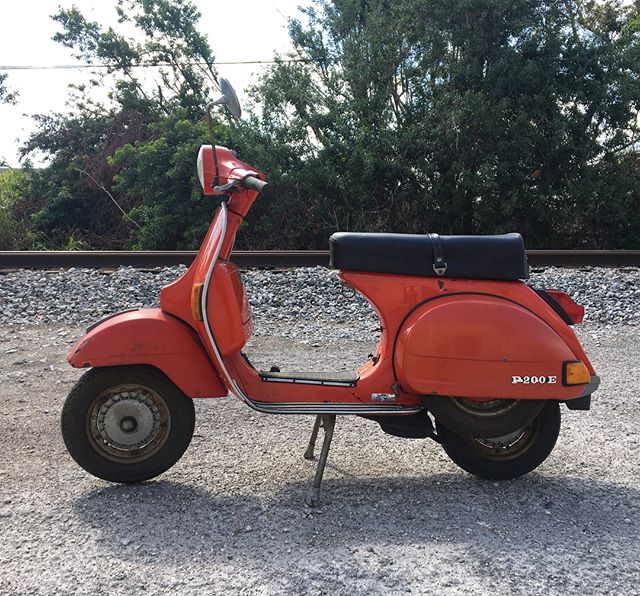 For sale: 1978 Vespa PE200...starts right up. Runs and drives great. Florida title in hand. $1,800 rides it home.