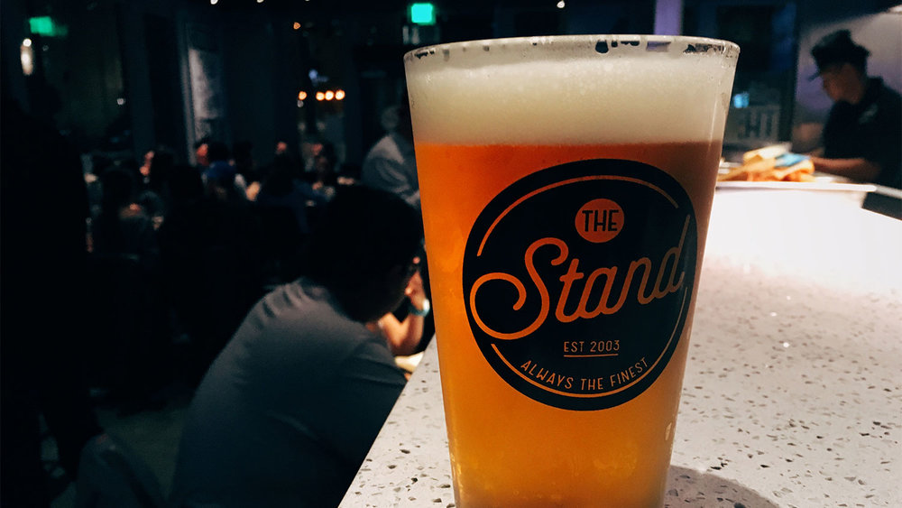 When you have a freshly-poured Stone Delicious IPA, everything else fades and blurs.
