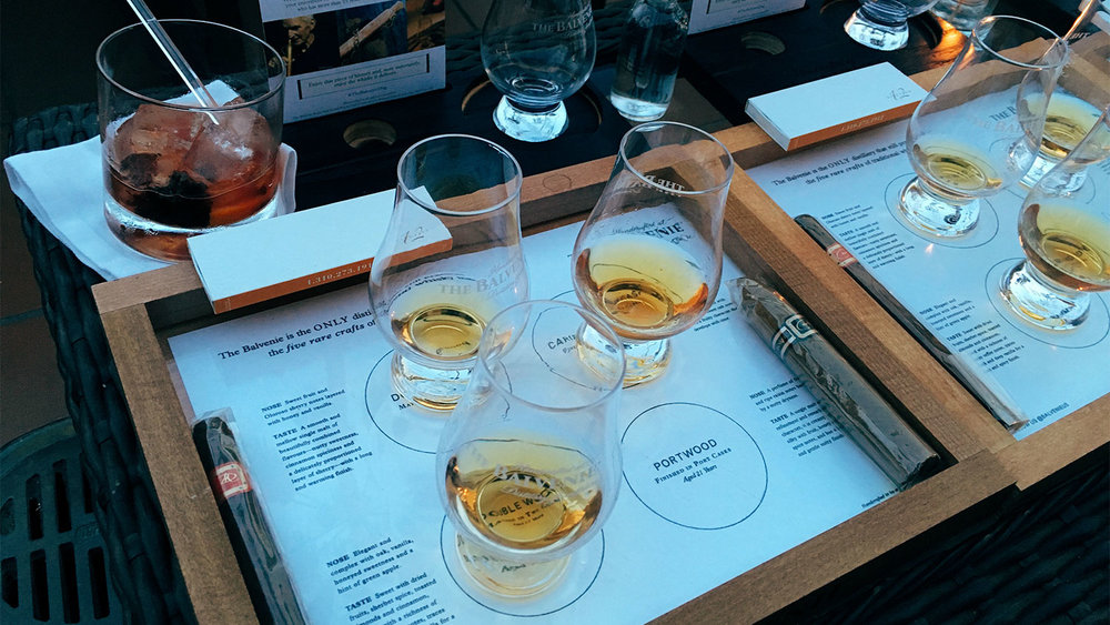 Balvenie had quite the setup for us when we arrived at Bar Nineteen 12.