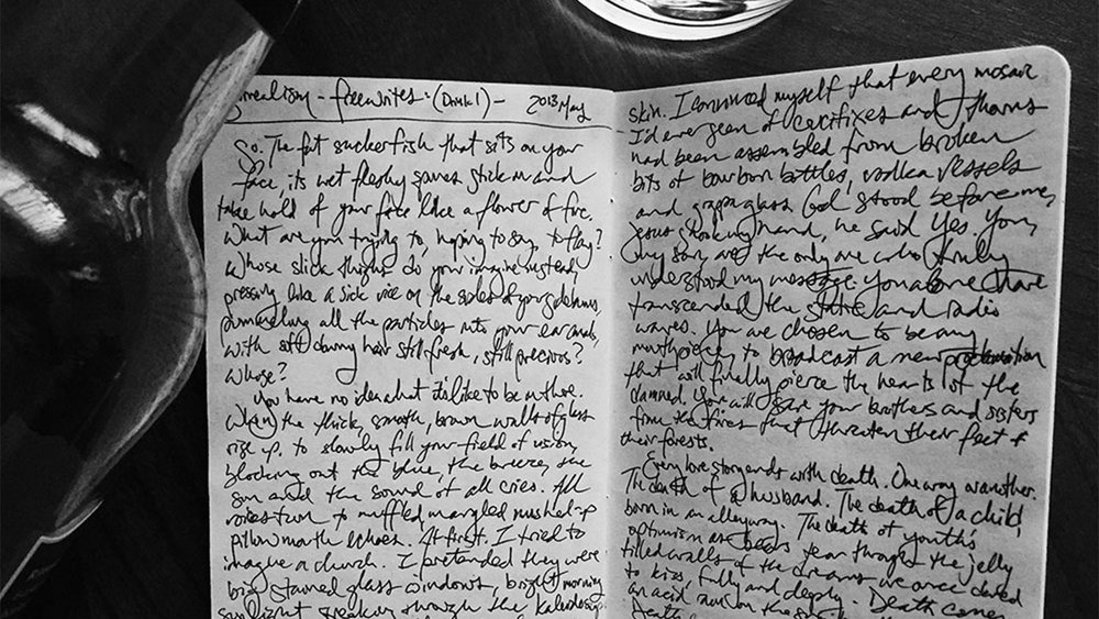 One of my original notebooks full of prose poetry.