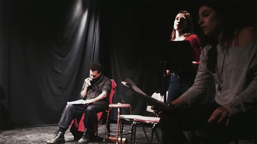 The staged reading at Fresh Produce'd.