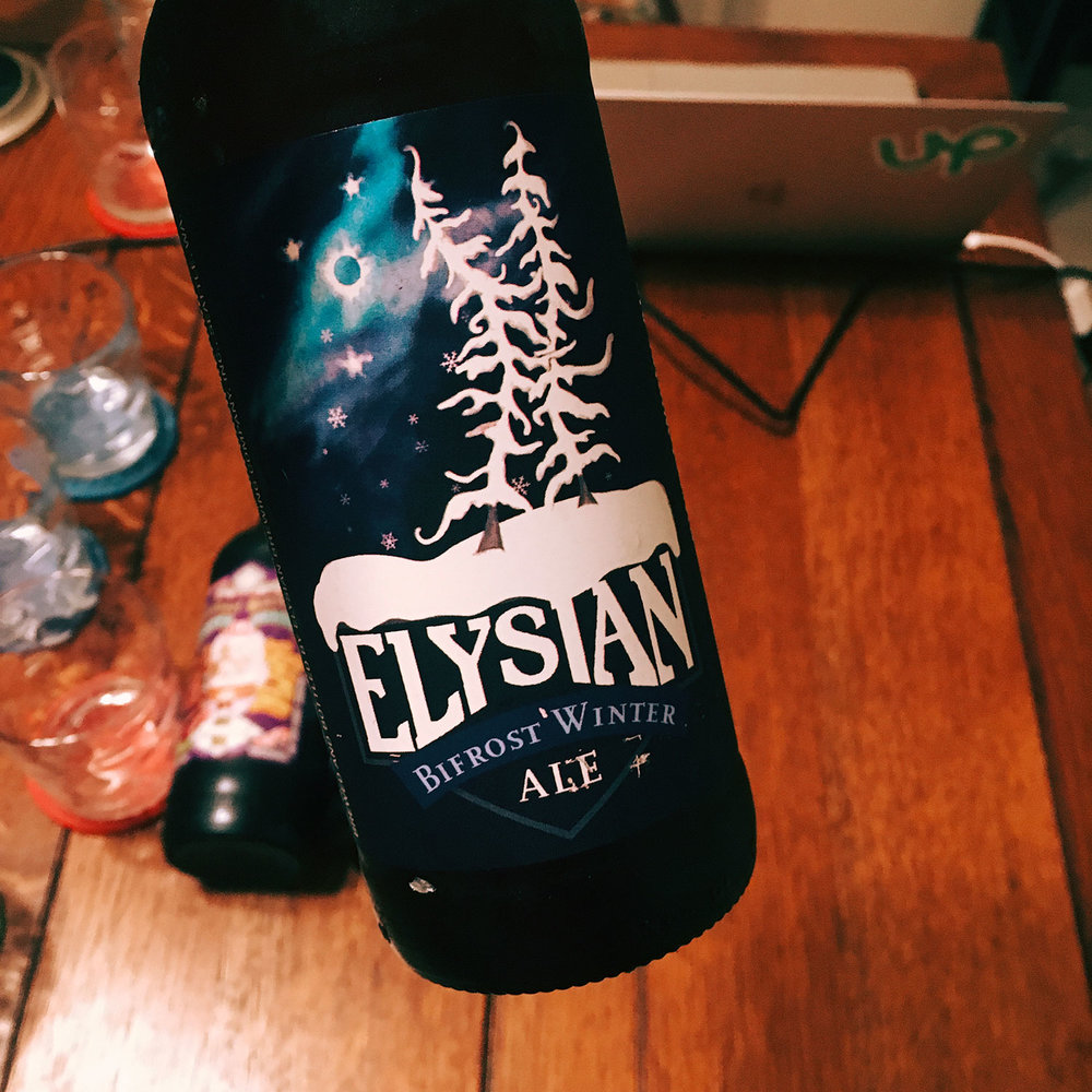 Elysian Brewing Bifrost Winter Ale is a strong pale with lovely citrus tones.