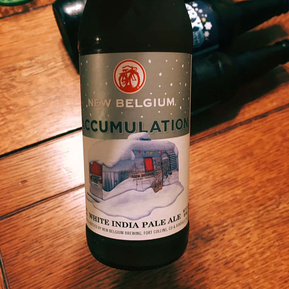 New Belgium's seasonal white IPA, Accumulation, is a great beer – but maybe not so great with cookies.