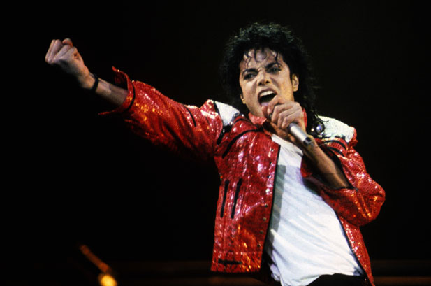 Michael Jackson performs in concert circa 1986. (Photo by Kevin Mazur/WireImage)