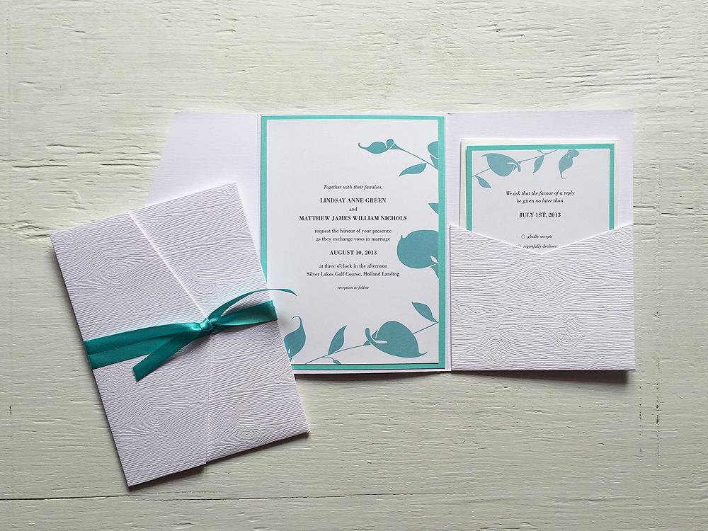 LINDSAY + MATT  Elegant Tiffany Blue and White Orchid Wedding Invitations and RSVP