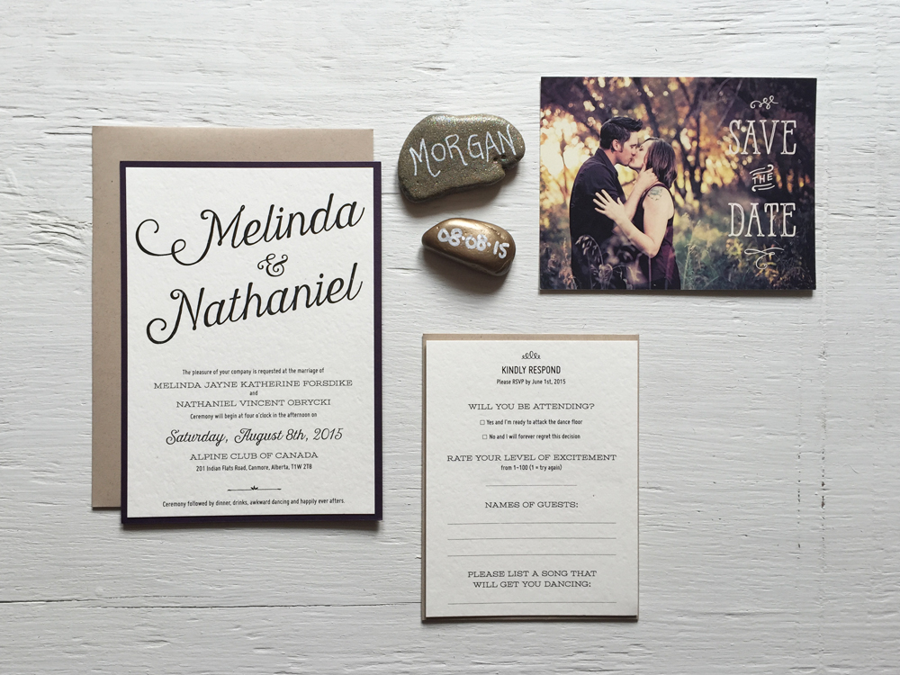 MELINDA + NATHANIEL  Vintage Rustic Wedding Invitations, RSVP and Postcard Save the Date