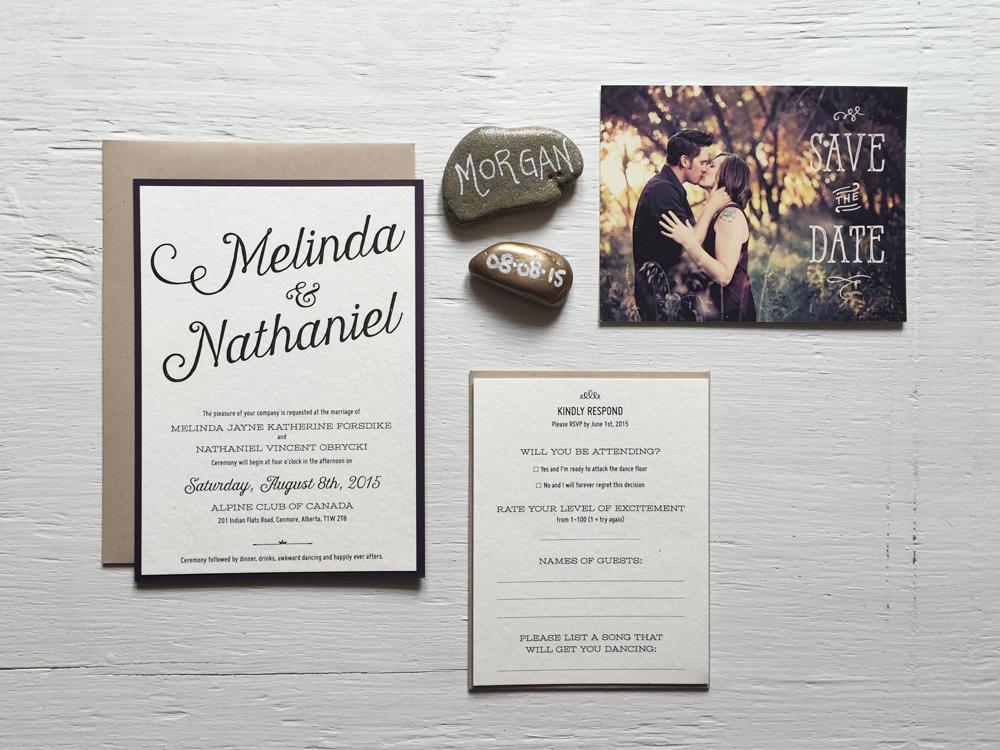 MELINDA + NATHANIEL  Vintage Rustic Wedding Invitations, RSVP and Postcard Save the Date