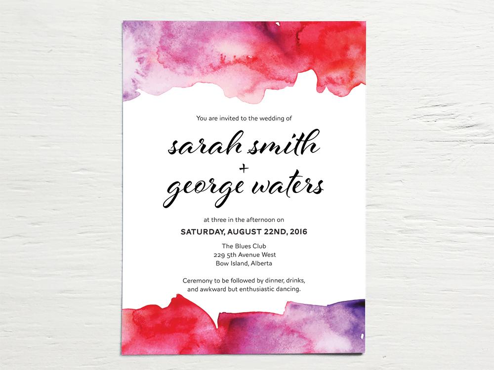 SARAH + GEORGE  Fun, Bright and Bold Watercolor Wedding Invitations