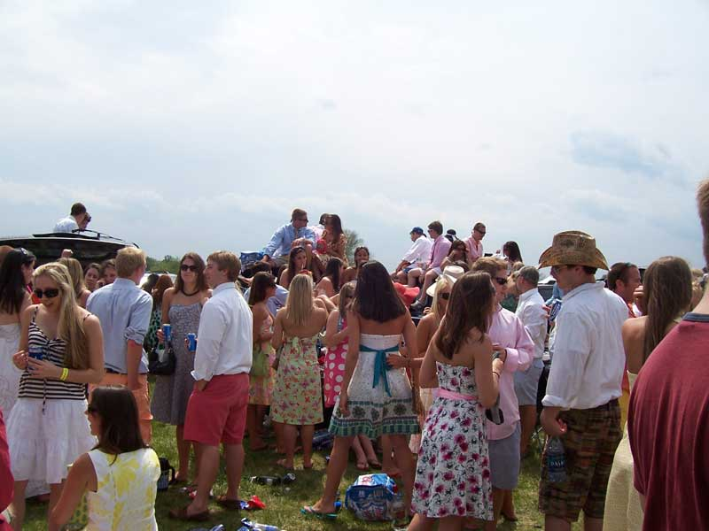The infield at the Foxfield races.