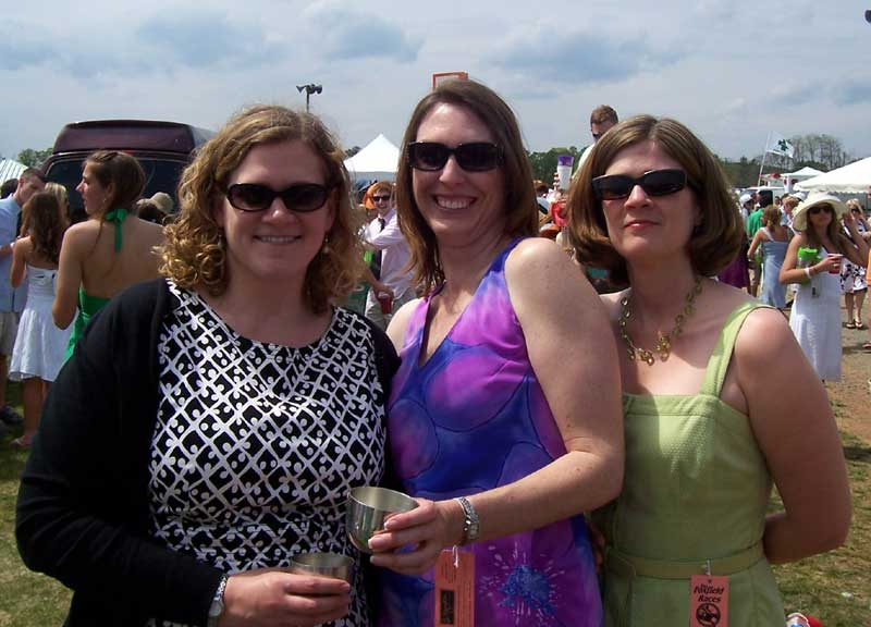 Carrie, Megan, and me at Foxfield races.