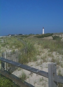 dunes and lighthouse