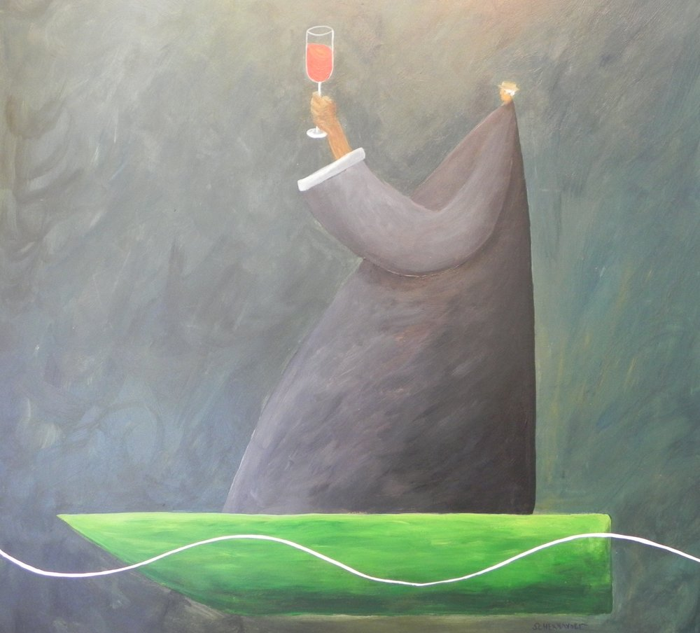 Salud 24 x 24 acrylic on wood  $2000.JPG