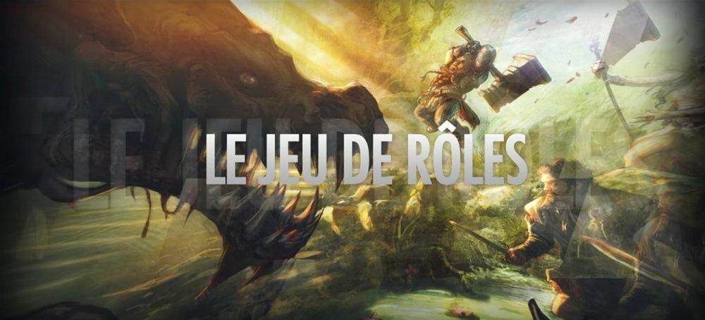 La corrélation entre LE jeu de rôle et une illustration de fantasy.