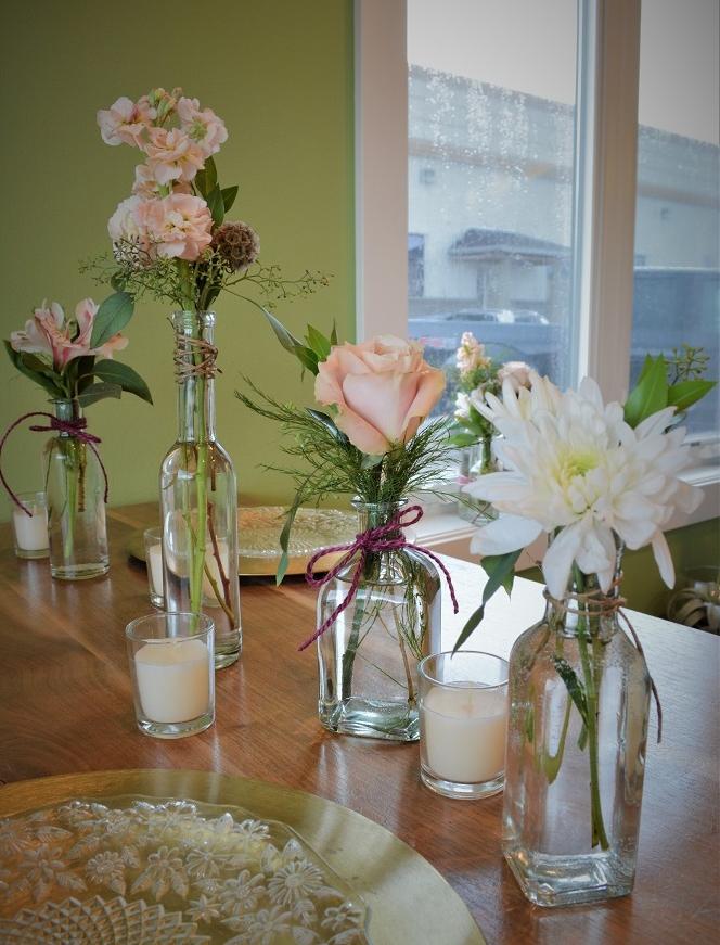5 mini vintage vases / $35