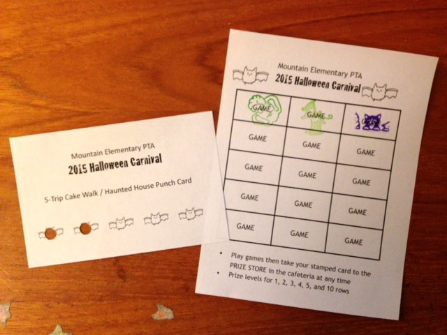 Examples of punch cards and game cards