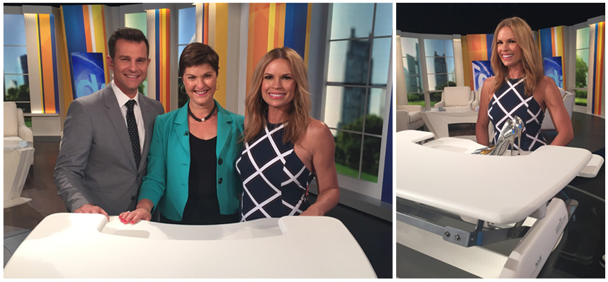 David Campbell, Anna-Louise and Sonia Kruger at Channel 9 - Today Extra.