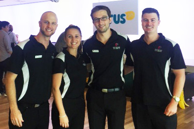 Macquarie Uni PHD Physiotherapy students & HBAW Angels at Optus