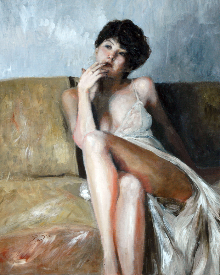 girl-in-a-white-nighty-portrait-painting-toronto-art-daniel-anaka (1 of 1).JPG