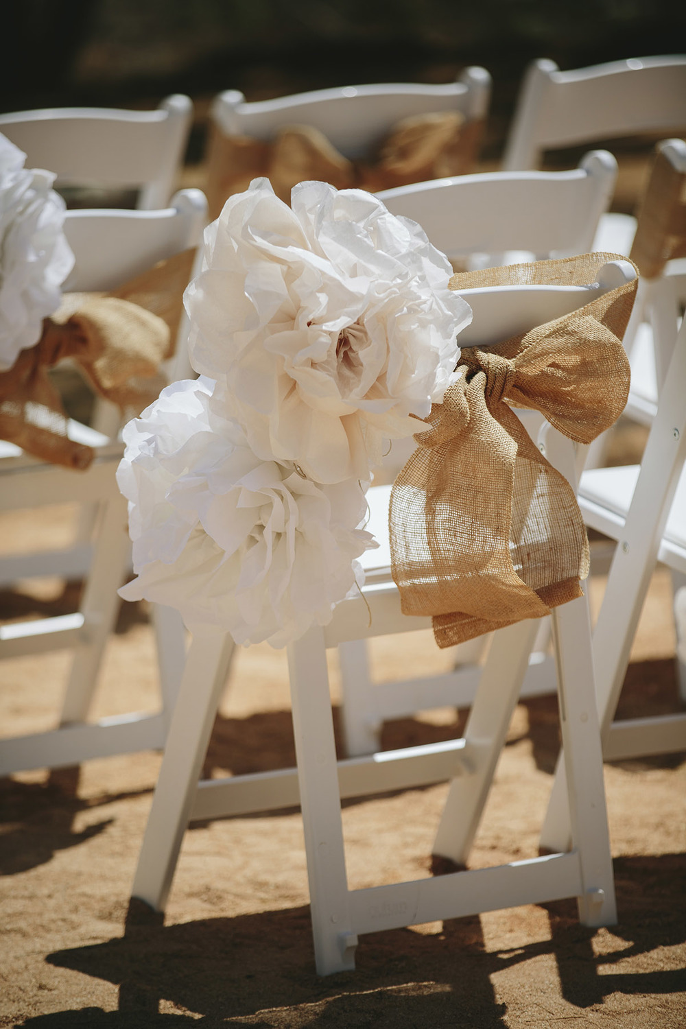 Gladiator Chairs & Paper Pom Poms