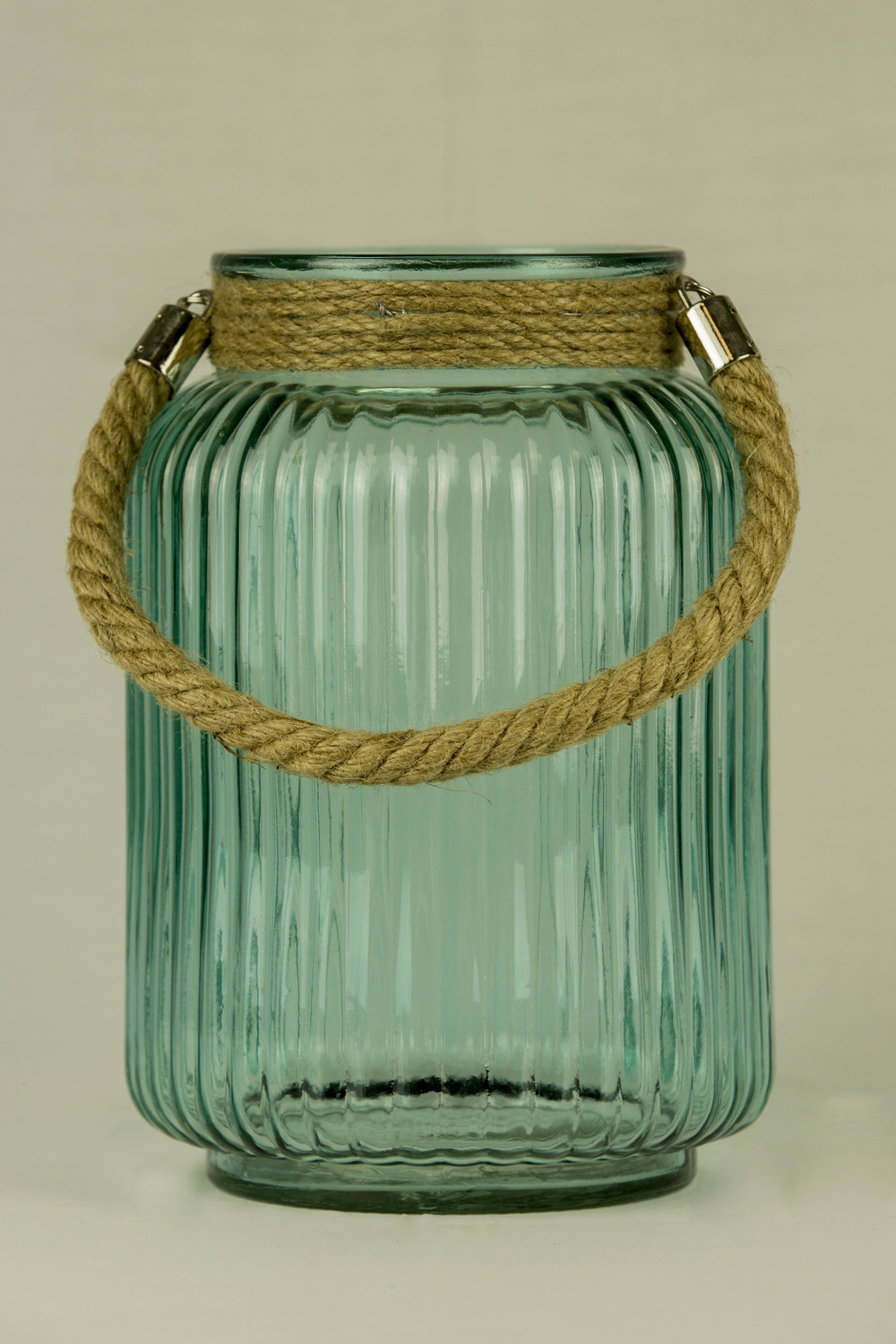 Glass Lantern With Rope
