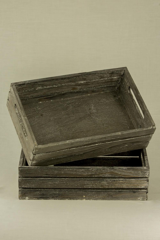 Grey White Washed Crates