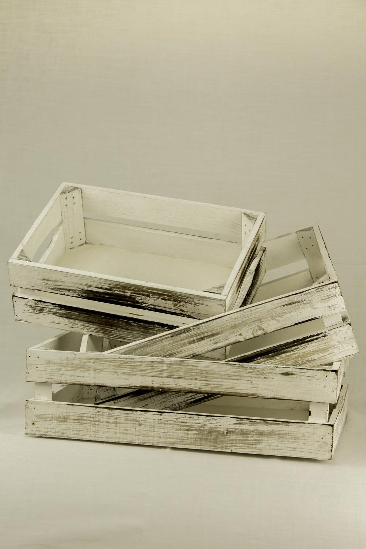 White Washed Crates