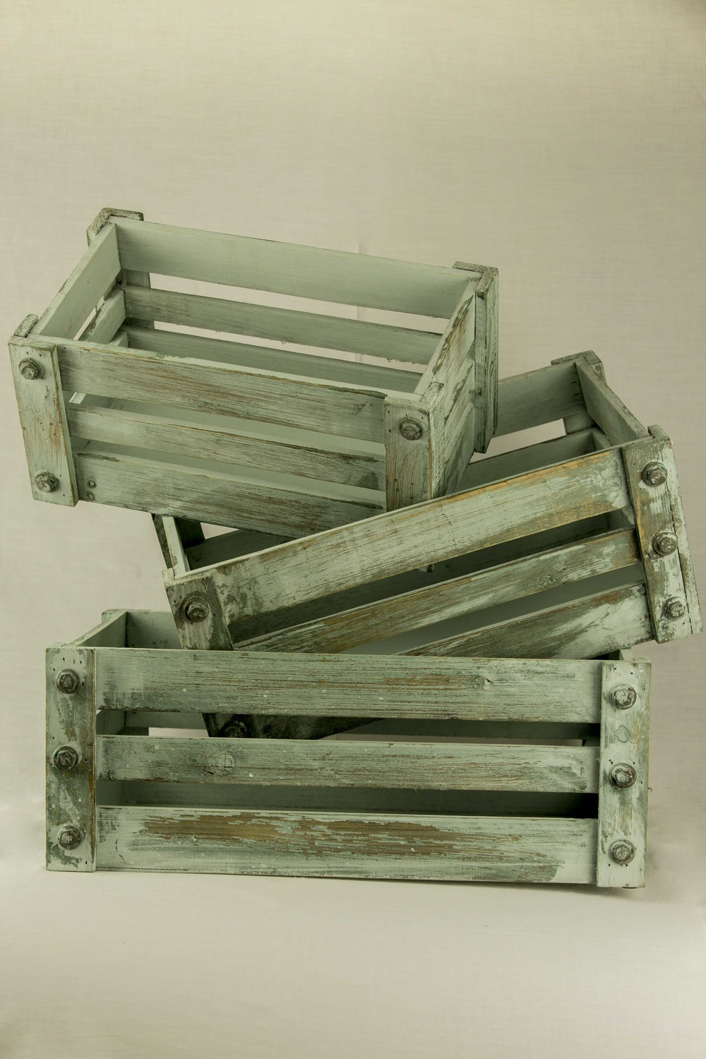 Mint Washed Crates