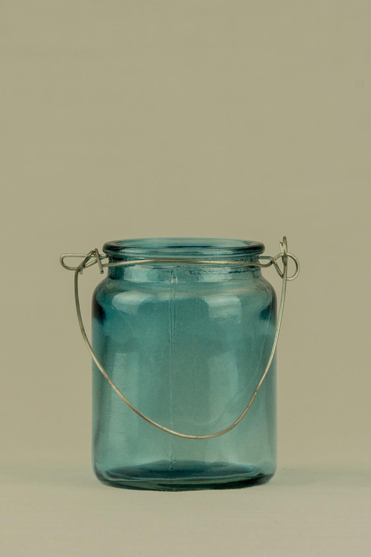 Blue Hanging Jar