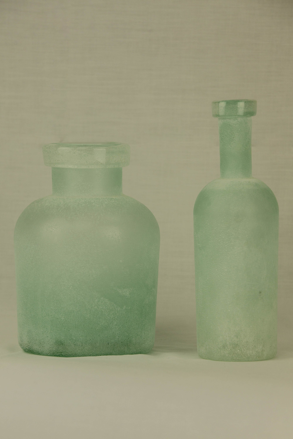 Mint Frosted Vase
