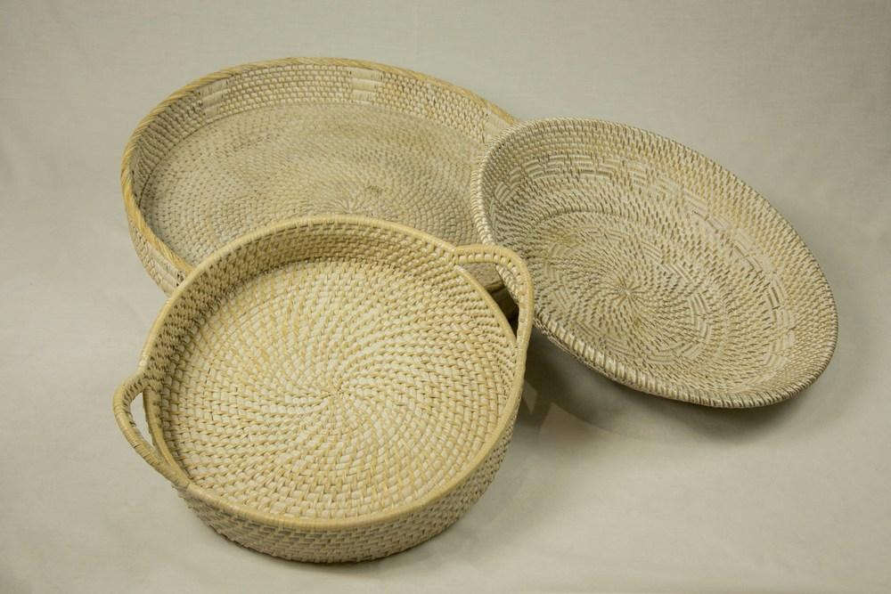 White Washed Baskets