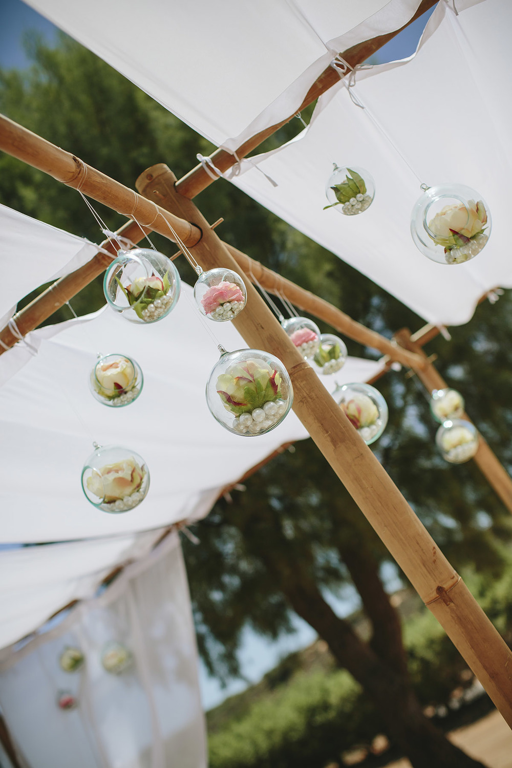 Bamboo Marquee & Glass Hanging Baubles