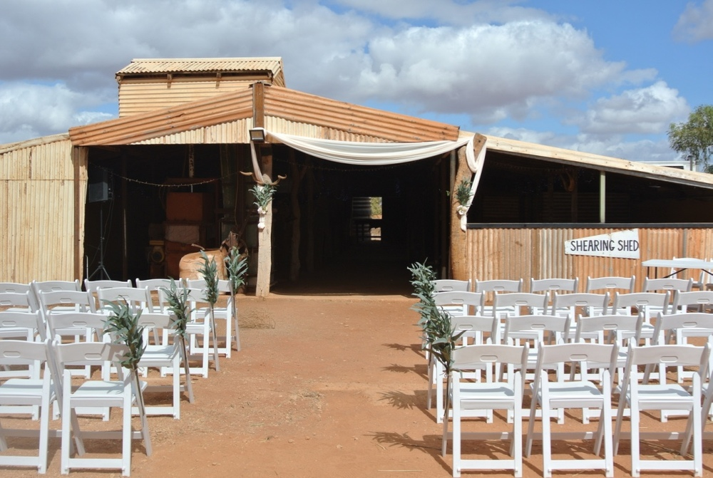 Ceremony At the Shearing Shed