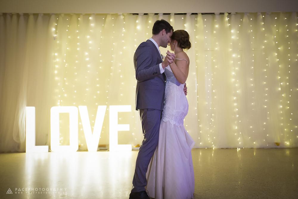 LED LOVE 90cm, Tulle & Fairy Light Backdrop