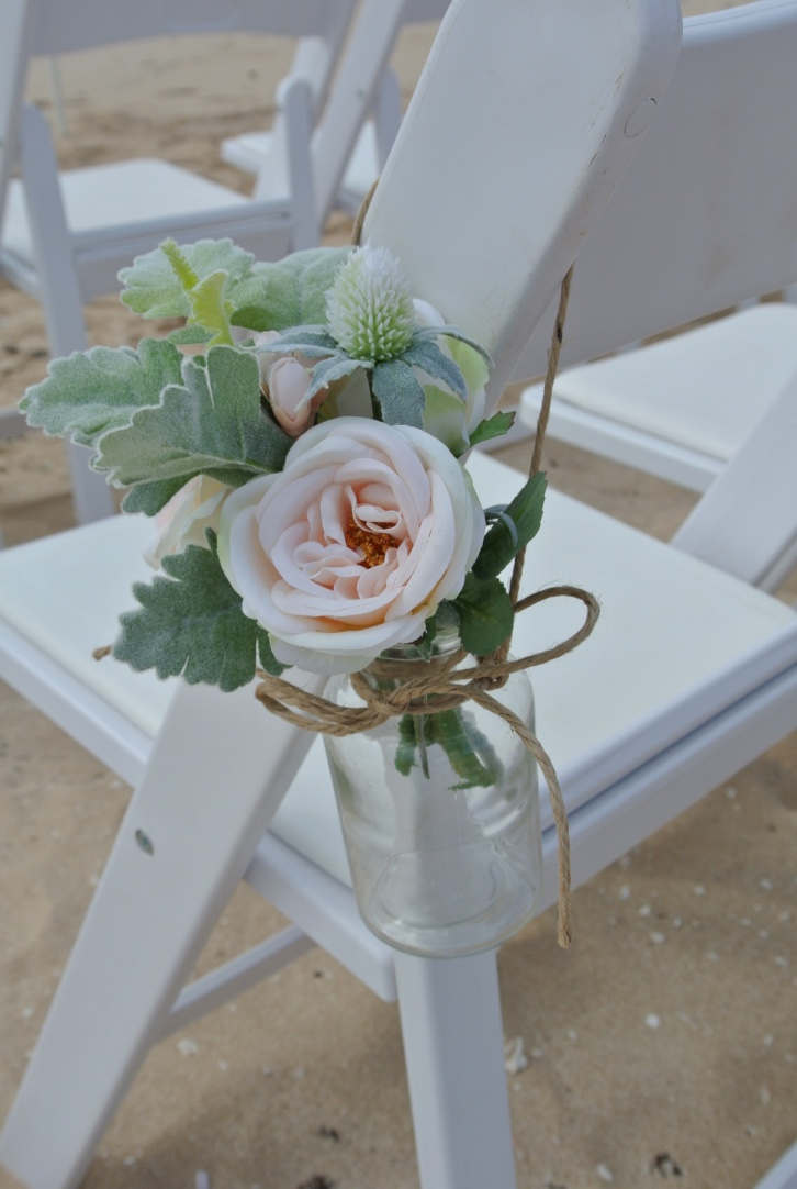 Artificial Flower Arrangements for Chairs