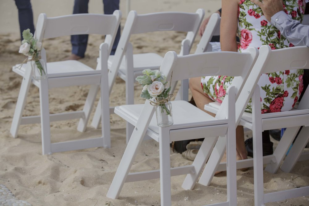 Gladiator Chairs, Artificial Flower Arrangement