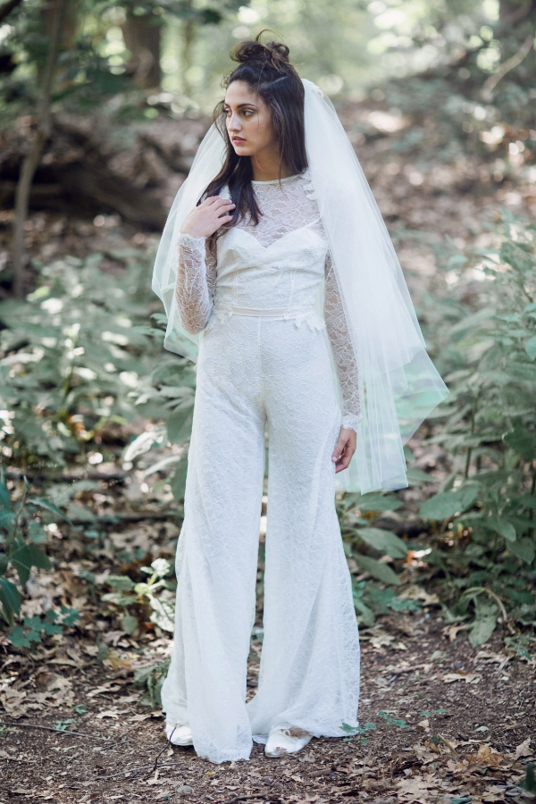 Albrecht jumpsuit with Elise veil